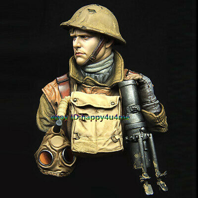 Unassembled  1/10 British Soldier Bust Model Resin Unpainted Garage Kits Statue • 21.50£