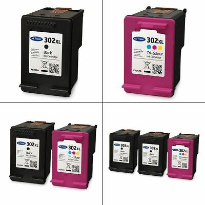 Remanufactured 302XL Ink Cartridges - Black And Colour HP 302 XL Ink • 27.95£