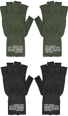 $10.99 • Buy Fingerless Wool Gloves US Made Knit Ragg GI Tactical Military Army Outdoor Warm