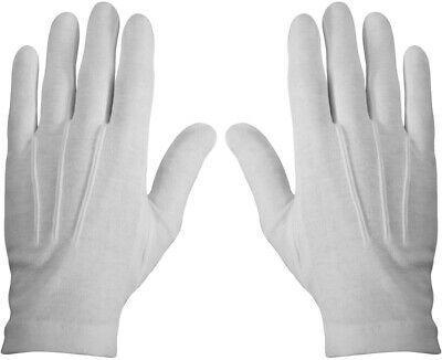 $8.99 • Buy White Cotton Parade Gloves Military Dress Formal Tuxedo Police Marching Band
