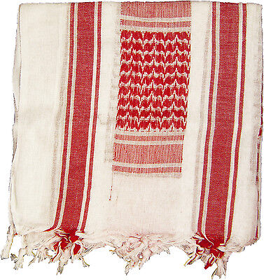 $10.99 • Buy White & Red Military Shemagh Arab Tactical Desert Keffiyeh Scarf