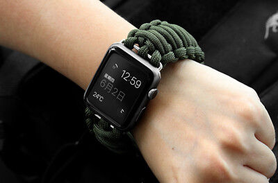 $11.99 • Buy US Apple Watch IWatch 1 2 3 4 5 6 Nylon Canvas Sport Military Fabric Band Strap