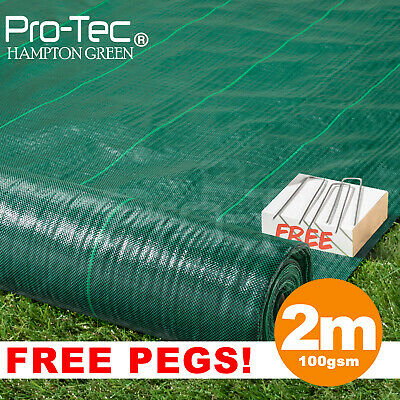£44.99 • Buy 2m Green 100gsm Weed Control Fabric Ground Cover Membrane Landscape Garden Mulch