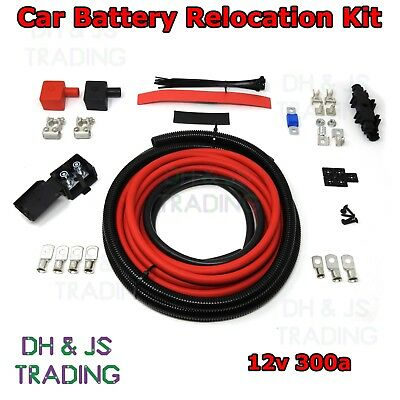 £87.95 • Buy 6M Car Battery Relocation Kit - Track Race Conversion Boot Racing 300a 12v