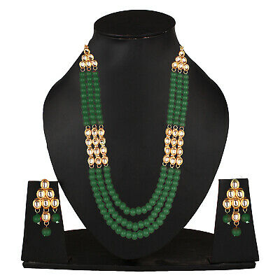 $13.49 • Buy Indian Bollywood Long Kundan Necklace Green Fashion Jewelry Party Wedding
