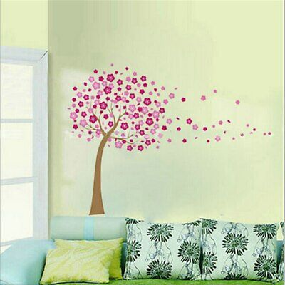 Removable Large Cherry Blossom Tree Flowers Wall Sticker Art Mural Decal Decor • 5.99£