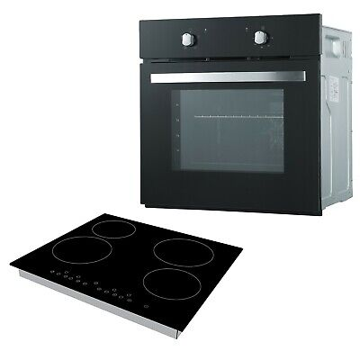 Cookology Black Single Electric Fan Oven & 60cm Touch Control Ceramic Hob Pack • 299.99£