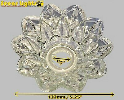 £16.99 • Buy CHANDELIER BOBECHE DISH GLASS DRIP TRAY BOWL 26mm HOLE HANG CRYSTALS GLASS DROPS