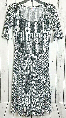 $ CDN22.37 • Buy NWT LuLaRoe Dress Gown Small Black And White Feathers Modern Design New