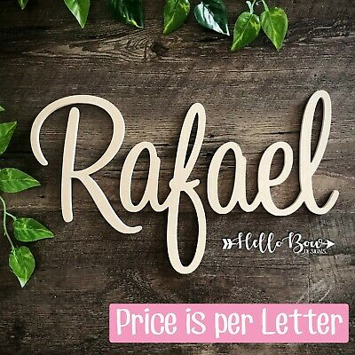 AU1.45 • Buy MDF LETTERS 10cm HIGH Custom Cut, Create Names/words For Party Or Home Decor