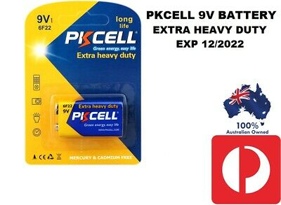 AU5.45 • Buy 9V Battery 9Volt 1604A 6F22 MN1604 Extra Heavy Duty Battery PKCELL EXP 12/2022