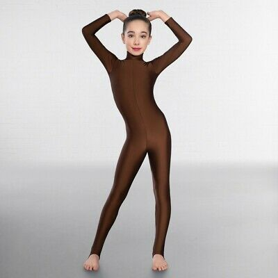 1st Position Long Sleeved Keyhole Back Dance Catsuit • 35.99£