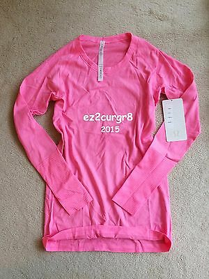$ CDN139.99 • Buy Lululemon Swiftly Long Sleeve Crew Heathered Neon Pink Sz 12
