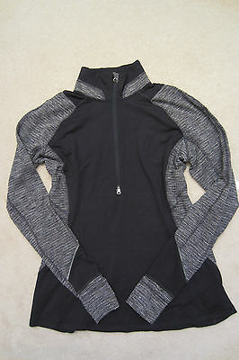 $ CDN179.99 • Buy Lululemon Race Your Pace 1/2 Zip Pullover Rulu Black Coco Pique White Szs 8 12