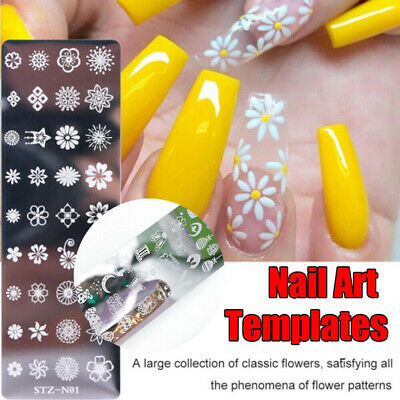$1 • Buy Nail Art Stamping Image Plates Stamp Metal Template Manicure Tips Supply DIY