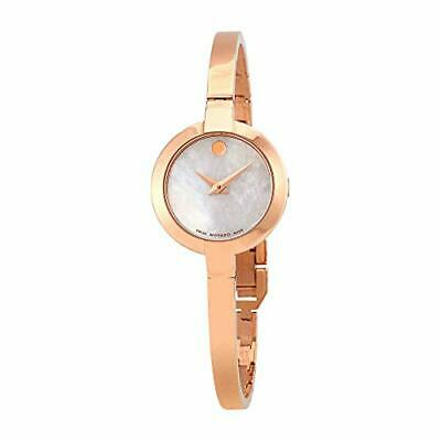 $338.53 • Buy Movado Bela White Mother Of Pearl Dial Ladies Watch 0607082