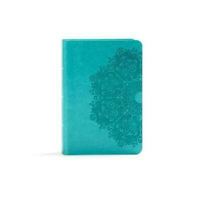 AU35.18 • Buy KJV Large Print Compact Reference Bible, Teal Leathertouch: Red Letter, Ribbon M