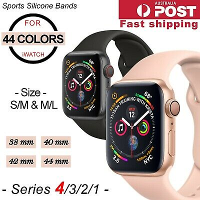 AU6.95 • Buy Sports Silicone Bracelet Wrist Band For Apple Watch Series 5 4 3 2-38 40 42 44mm