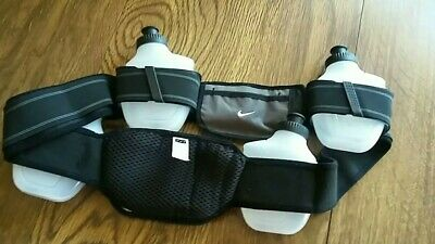 $10.50 • Buy NIKE 4 Btl Waist Pack 2 Zip Pouches Fannypack Hydration Running Cycling New