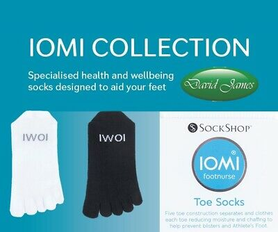 IOMI FOOTNURSE TOE SOCKS To Help Prevent Blisters & Athletes Foot 2 Sizes Avail  • 7.99£