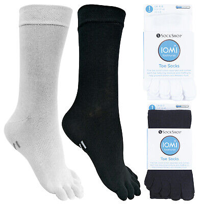 IOMI - Mens & Womens Lightweight Coolmax Cotton Toe Socks For Athletes Foot • 9.99£