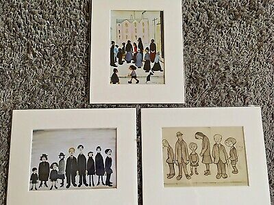 3 For 2 X SMALL LS Lowry Prints (People) In Mount Ready To Frame 8x10 Mount • 10£