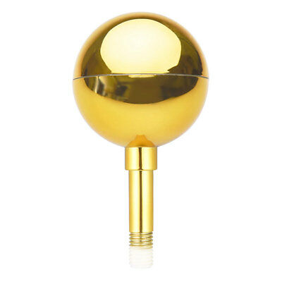3  Flagpole Gold Ball Top Finial Ornament For 20' 25' 30' Aluminum Flag Pole • 5.98$