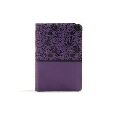 AU35.34 • Buy KJV Large Print Compact Reference Bible, Purple Leathertouch: Red Letter, Ribbon