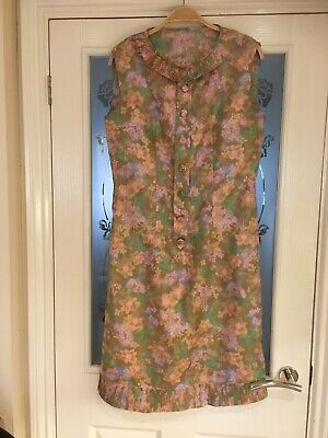 AU33.85 • Buy Ladies Clothes Vintage Dress Handmade? 60's 70's Fit Size 8 10 (358)