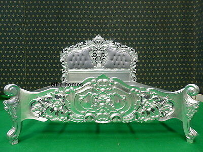 Silver French Furniture ROCOCO BED Double Or King Size Louis Antique Style  • 999£