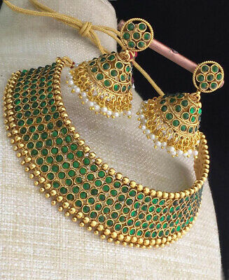$22.95 • Buy Indian Bollywood Choker Necklace Green Fashion Jewelry Party Wedding Bridal