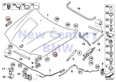 $15.18 • Buy 6 X BMW Genuine Engine Hood/Mounting Parts Bump Stop E46 E60 E60N E61 E61N E63 E