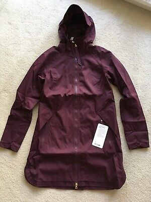 $ CDN379.99 • Buy Lululemon Definitely Raining Jacket Bordeaux Drama Burgundy Plum Sz 8