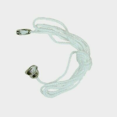 Jandorf PULL CHAIN 3' W/ Bell End & Connector White Turn Light On/Off 1 Pk 60313 • 4.07£