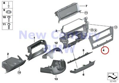 $52.26 • Buy BMW Genuine Mounting Parts I-Panel Bottom Centerstack Cover Panel F25 F26