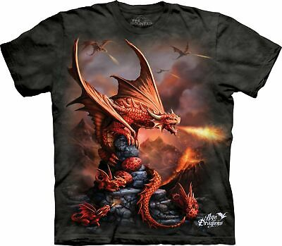 £24.99 • Buy FIRE DRAGON The Mountain T Shirt Mythical Fantasy Unisex