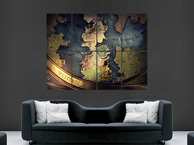£17.99 • Buy Game Of Thrones Poster Map Tv Series Image Huge Large Wall Art