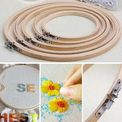 £2.39 • Buy UK Wooden Cross Stitch Machine Embroidery Hoop Ring Sewing Craft Tool 13-30cm