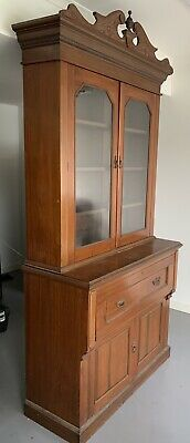 AU500 • Buy Antique Cedar Glass Fronted Bookcase