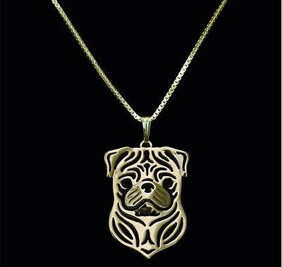 £5.71 • Buy Pug Charm Pendant Necklace Dog Lover, Friend Gift, Gifts For Her