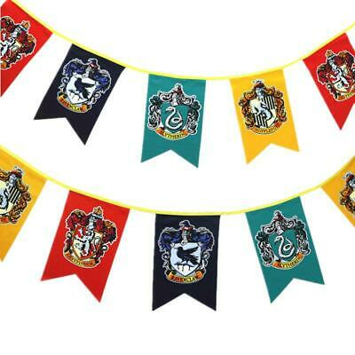 AU13.99 • Buy Harry Potter Bunting Flag Banner Gryffindor Hogwarts Slytherin Ravenclaw 4 Teams