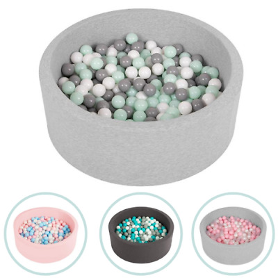Selonis Soft Ball Pit Pool Round 90x30cm For Baby Toddler 200 Balls Foam • 64.99£