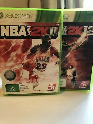AU10 • Buy NBA 2K12  & NBA2K11 Xbox 360 Games USED