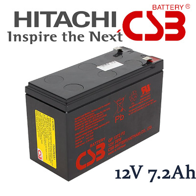 AU34.50 • Buy CSB Hitachi GP1272 28W 12V 7.2Ah SLA VRLA Battery For NBN UPS Scooter Alarm