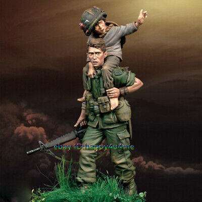 75mm 1/24 Hell Soldier Rescue Figure Model Unpainted Resin Garage Kits Statue • 20.22£