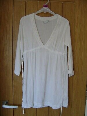£3.99 • Buy CLEARANCE Next Summer Over Costume Blouse Dress Size 12 100% Cotton (Ref P)white