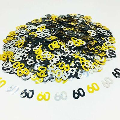 £2.39 • Buy Black Gold & Silver 60th Birthday Party Table Confetti Decorations Age Sprinkles