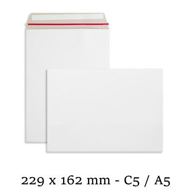 AU7.66 • Buy C5 Strong All Board White Rigid Card Peel & Seal A5 Envelopes Free P&P