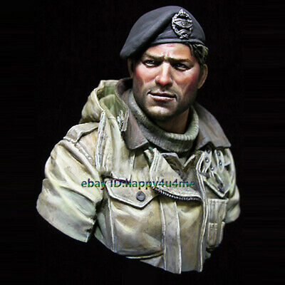 Unassembled NEW WWII UK Soldier Bust Model Unpainted Garage Kits Figure Statue • 22.99£