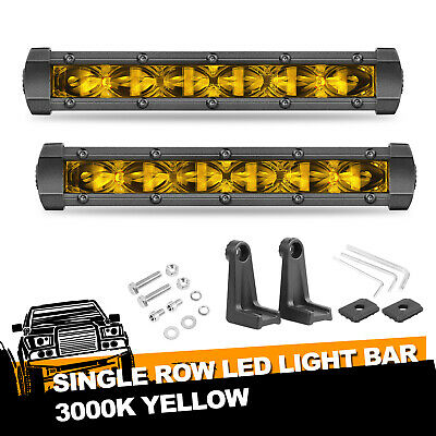 AU47.99 • Buy 8inch Cree LED Work Light Bar Tri Row Spot Flood Driving Revers Side Shooter 4WD